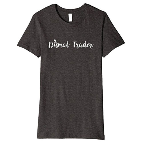 """Premium mortician t-shirt with """"dismal trade"""" hearts theme"""