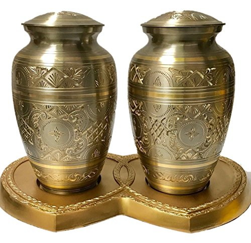 Double Companion Urns in Brass