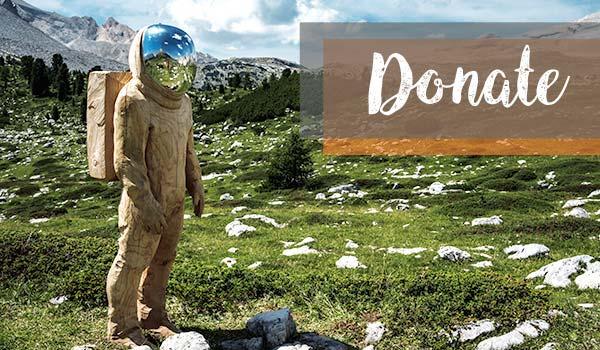 A sciency-spacesuit man contemplates body donation