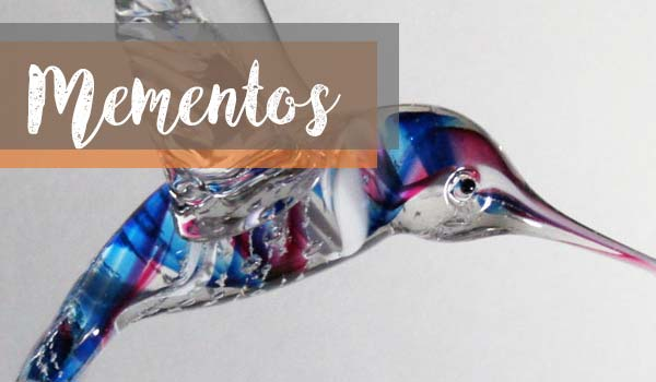 Get Made into Mementos & Memorials Like This Glass Hummingbird After You Die