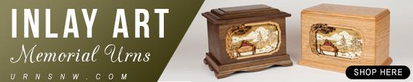 Inlay Art Cremation Urns from Urns Northwest
