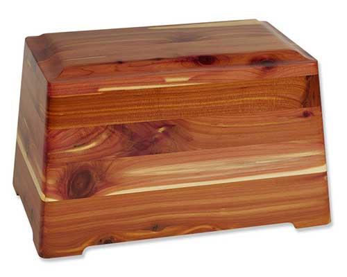 Rustic Cedar Wood Urns