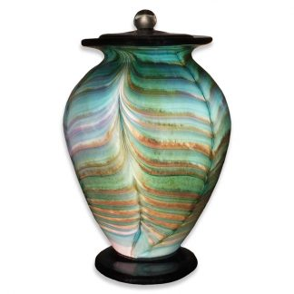 Hand-blown Glass Cremation Urn, crafted in Oregon