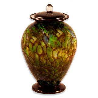 Stunning hand blown Glass Urn, made in the USA