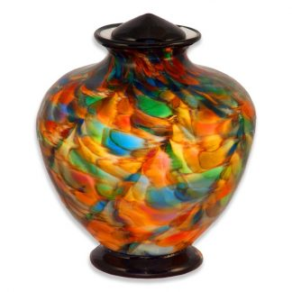 Glass urns blown by hand, made in Oregon
