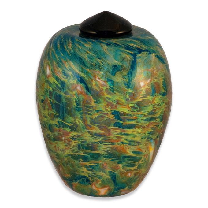 Hand Blown Glass Art Funeral Urns