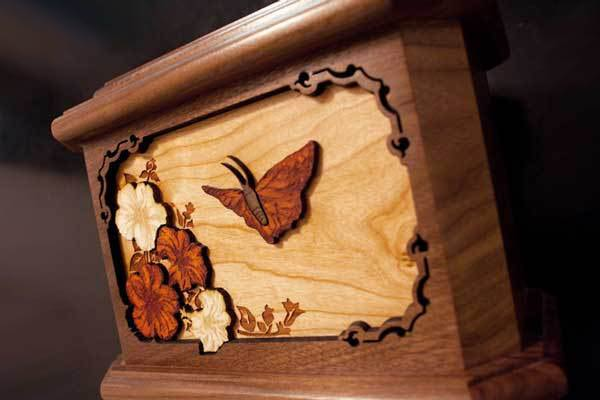 Walnut Wood Octagon with Butterfly Inlay