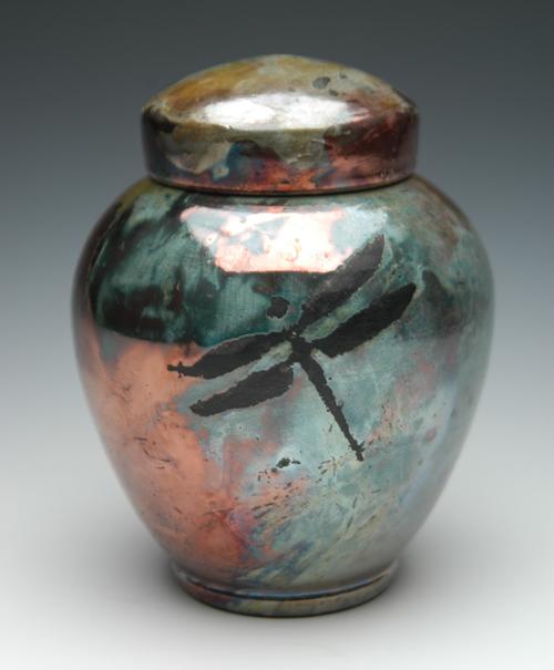 Dragonfly Urn | Raku Ceramic Urns