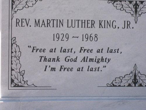 MLK Epitaph Inscription