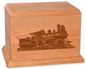 Laser Carved Train Urn
