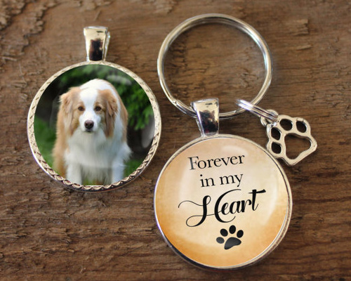 Memorial Gifts for Pet Loss - Photo Keychain