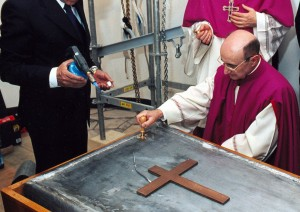 Pope's lead coffin being sealed