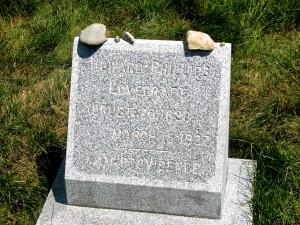 slanted-grave-marker
