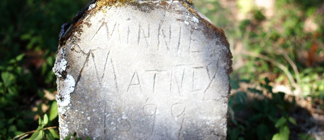 Homemade grave marker