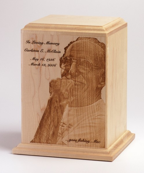 Cremation Urn with Funeral Photo