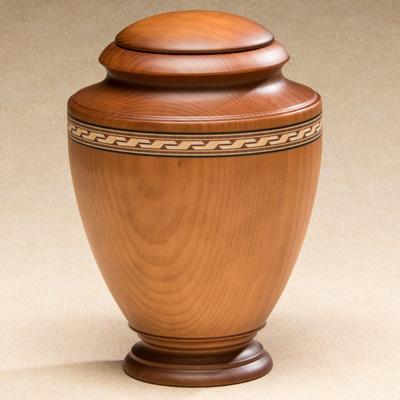 Wood memorial urn