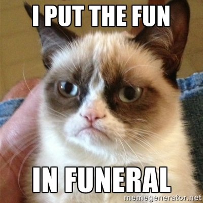 Angry Cat Funeral Meme