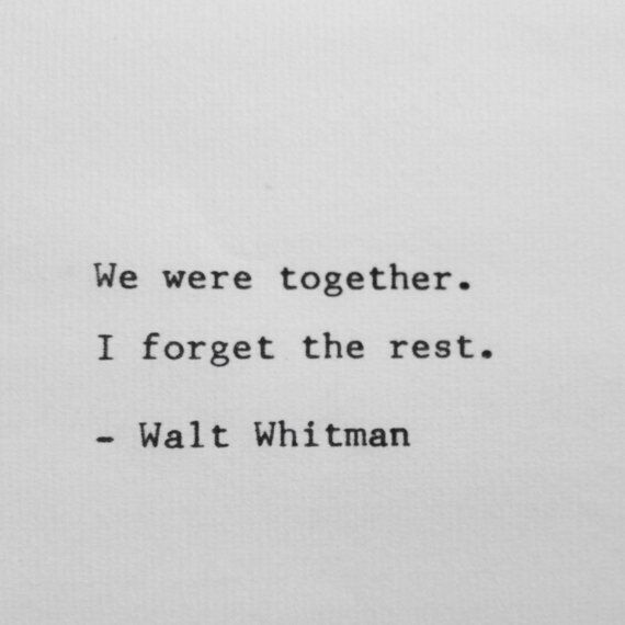 Walt Whitman life celebration quote