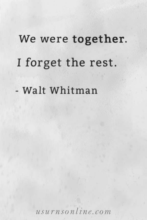 Walt Whitman Life Celebration Quotes
