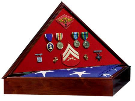 Medal Display Flag Case