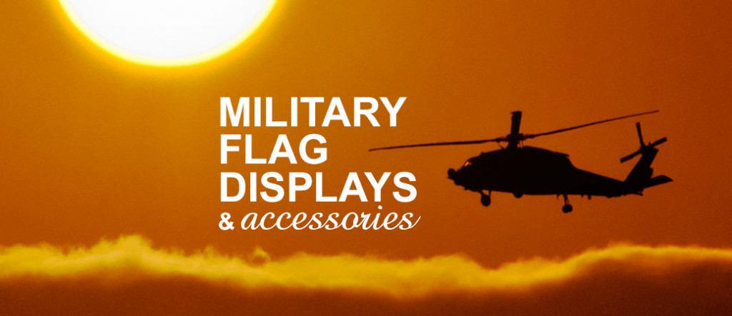 Military burial flags and accessories