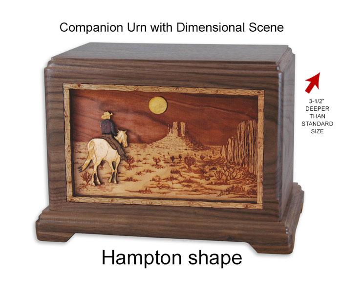 3 Dimensional Wood Art Urns