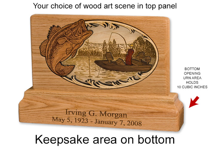 Dimensional Wood Art Urns - Keepsake