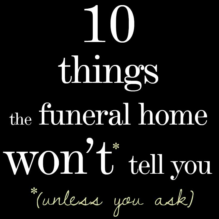 Researching funeral homes