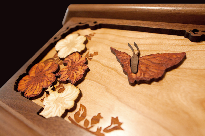 Wooden Cremation Urns With Woodcut Art Made In Usa