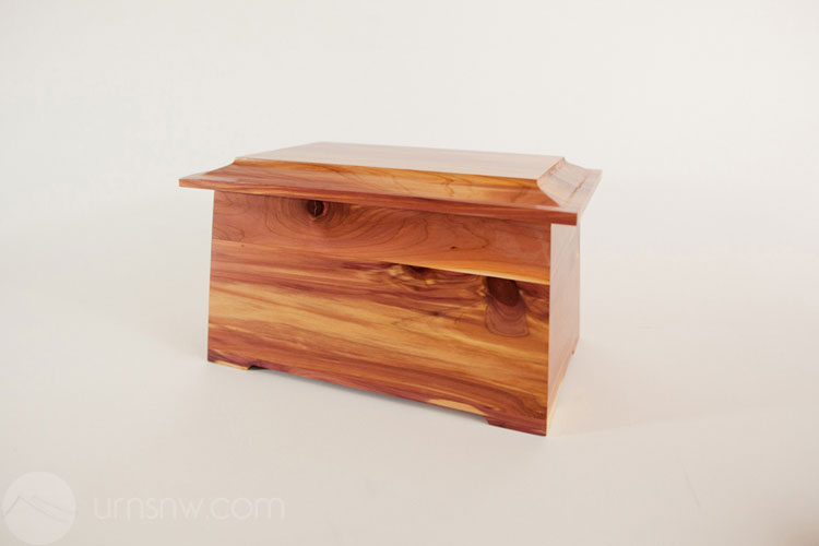 Detail of the aromatic cedar urn