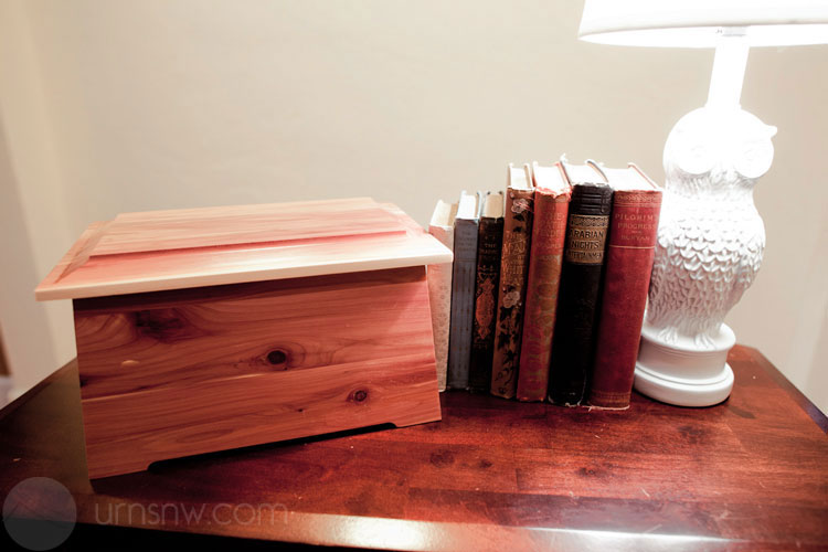 Cedar urn in your home