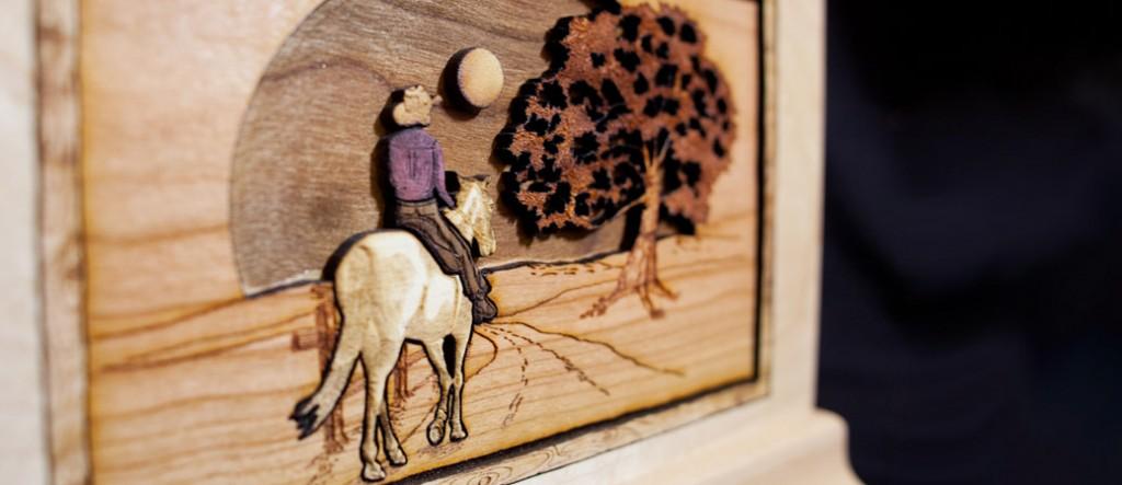 Wood Art Cremation Urn