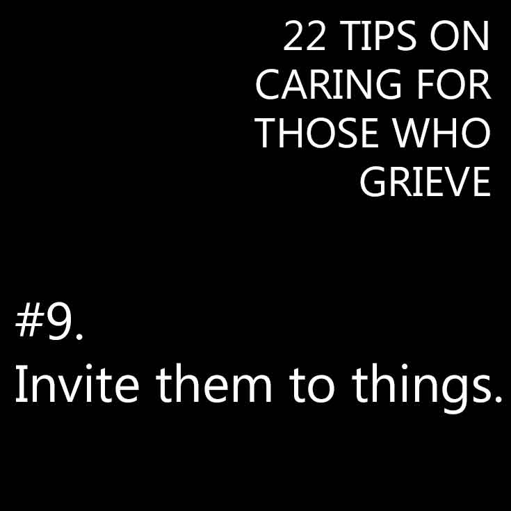 Caring for those who grieve