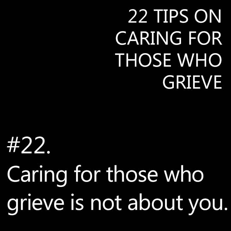 Tips for caring for mourners