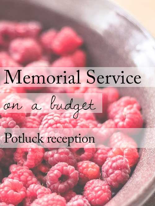 Skip the caterer, have a potluck reception