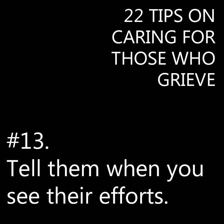 Caring for someone who grieves