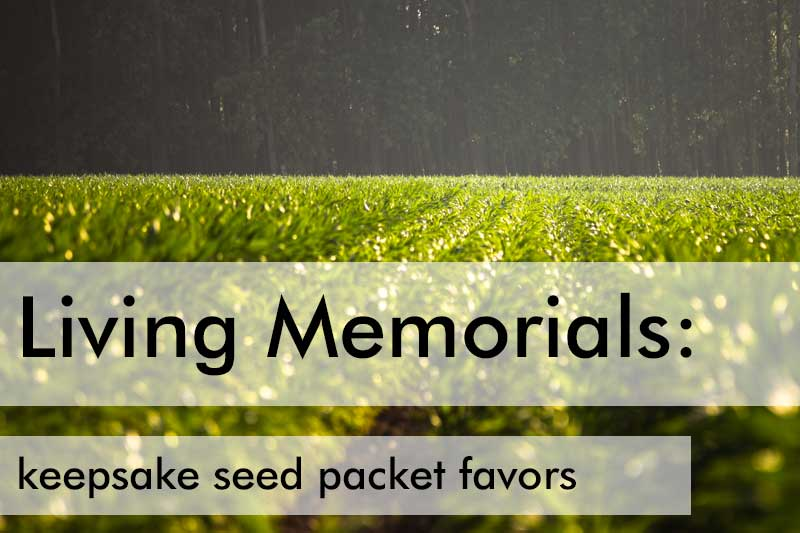 Memorial Favors: Keepsake Seed Packets