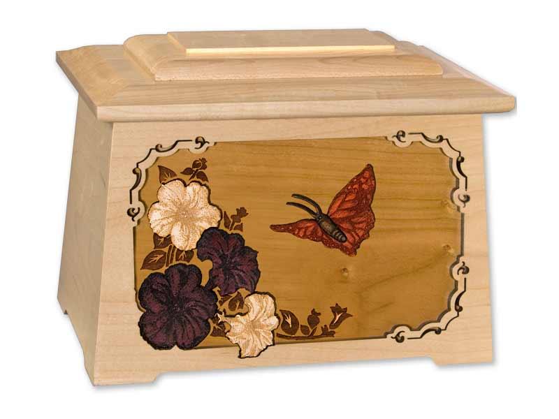 Flower Wood Urn
