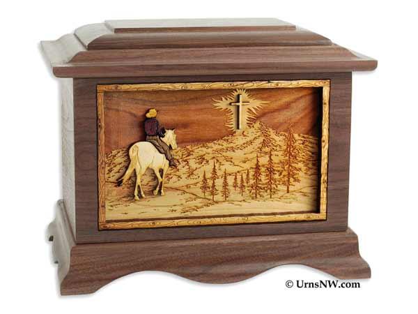 Christian Cowboy Urn