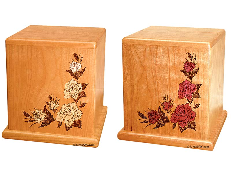 Rose Inlay Cremation Urns