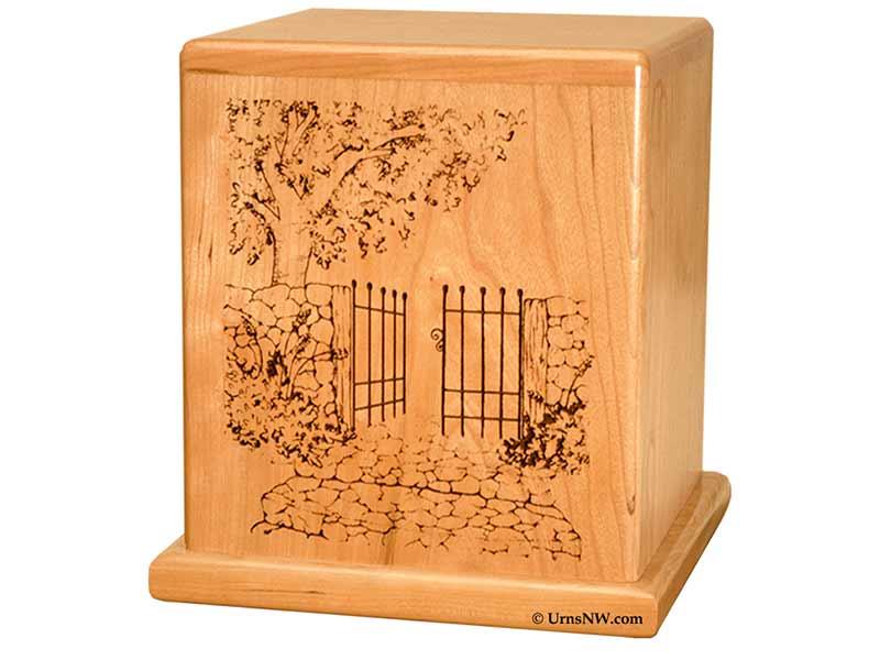 Wood Urn for Gardener