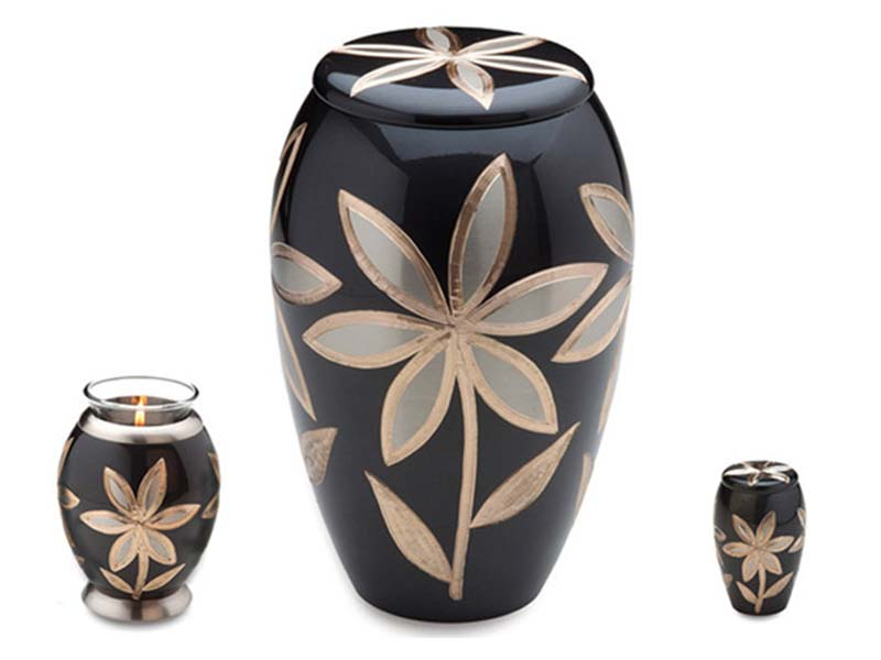 Brass Flower Cremation Urns
