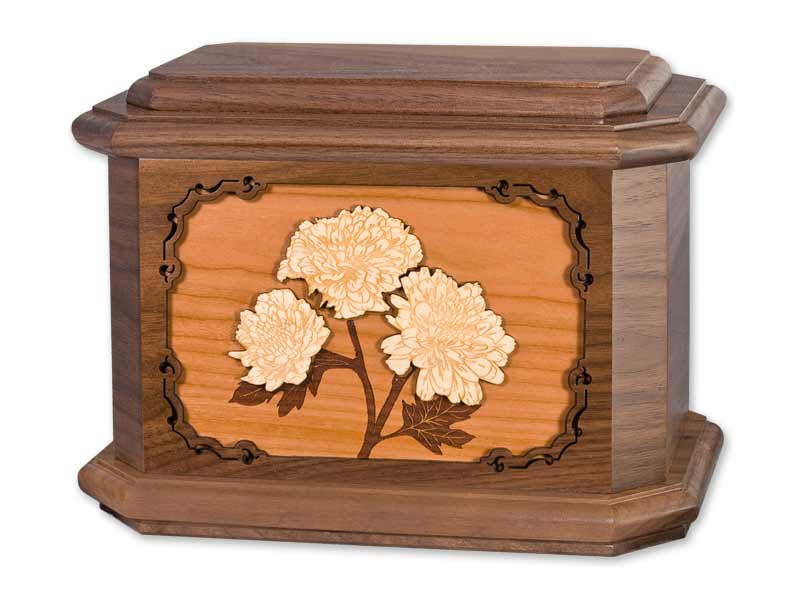 Chrysanthemum Flower Cremation Urns