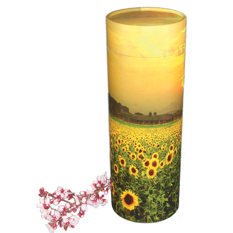 Scattering Cremation Urn with Sunflowers