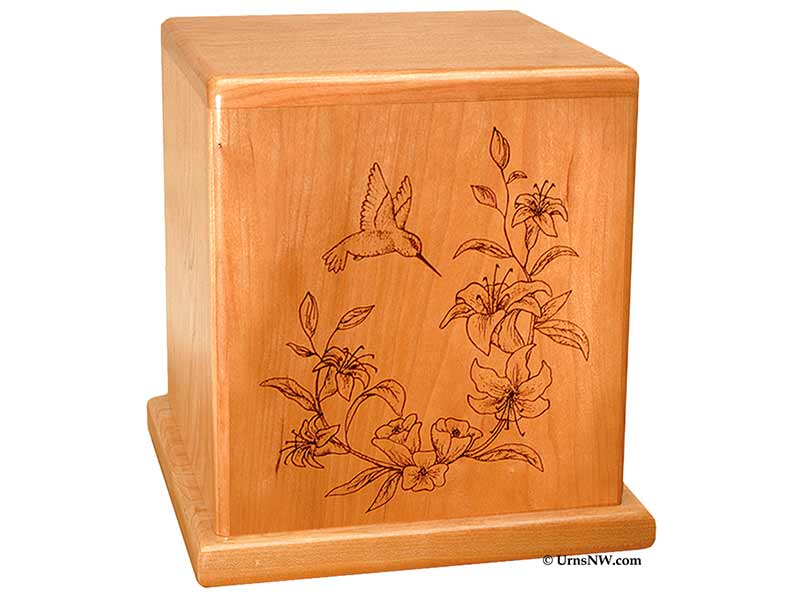 Flower Cremation Urn with Tiger Lilies