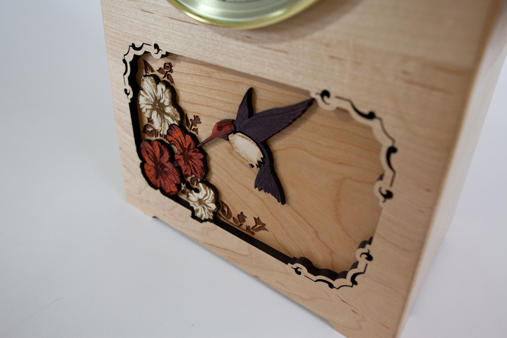 Hummingbird Inlay Art Urn