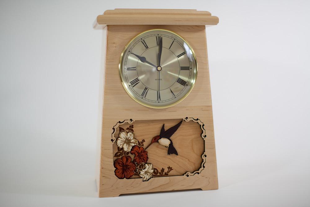 Wooden Clock Urn