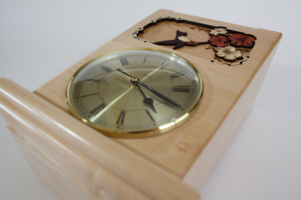 Hummingbird Clock Cremation Urn