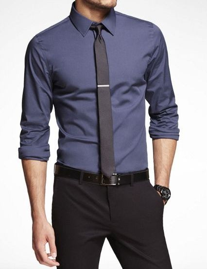 Shirt, tie, and black slacks