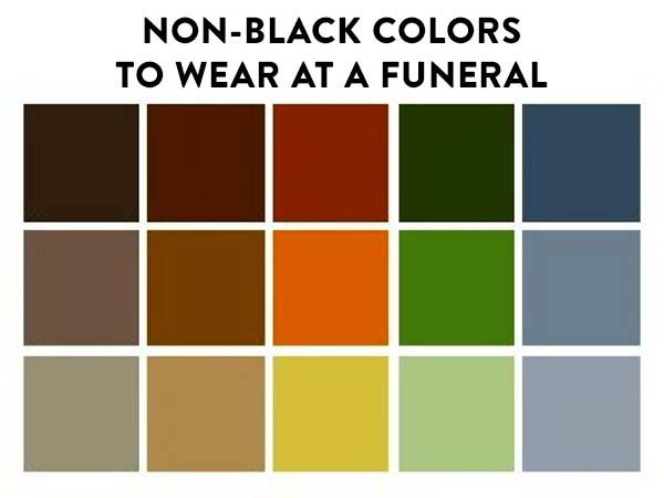 What to wear to a funeral that is not black
